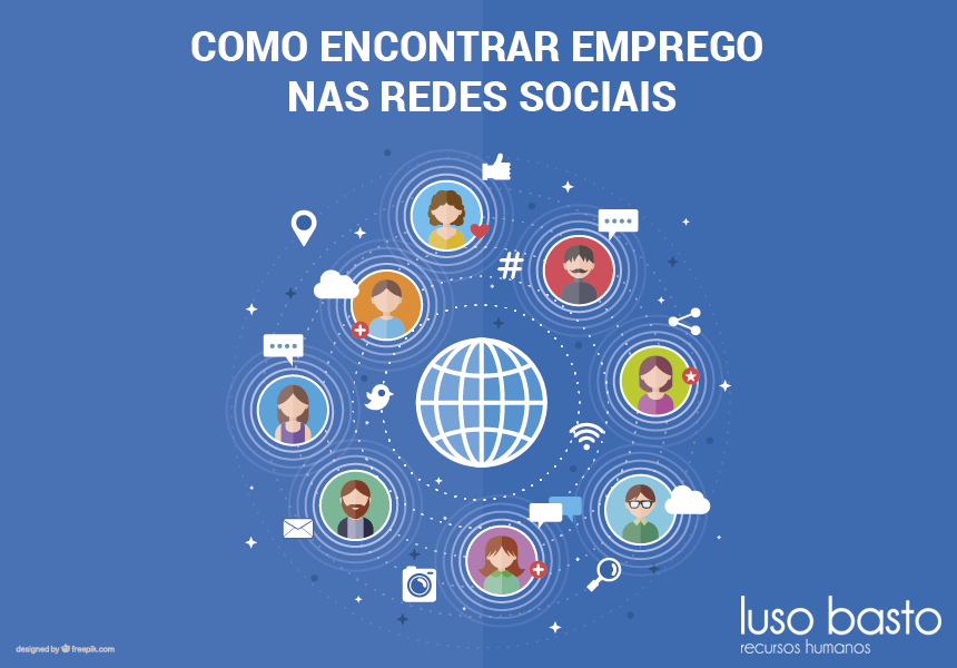 encontrar emprego nas redes sociais